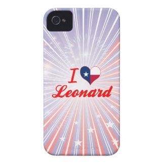 Amo a Leonard, Tejas iPhone 4 Cárcasas
