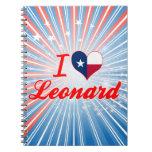 Amo a Leonard, Tejas Libros De Apuntes
