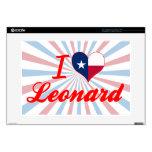Amo a Leonard, Tejas Portátil 38,1cm Skins