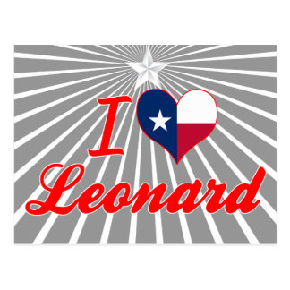 Amo a Leonard, Tejas Tarjetas Postales