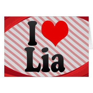 Amo a Lia Felicitación