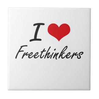 Amo a librepensadores azulejo cuadrado pequeño