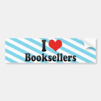 Amo a libreros etiqueta de parachoque