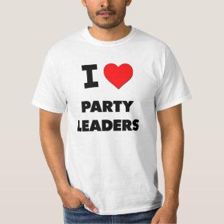 Amo a líderes de fiesta polera