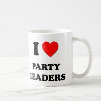 Amo a líderes de fiesta taza clásica