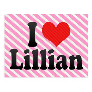 Amo a Lillian Tarjeta Postal