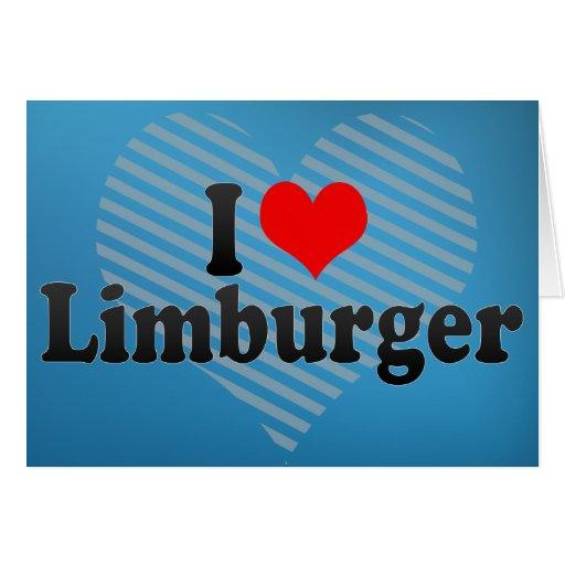 Amo a Limburgués Tarjeta De Felicitación