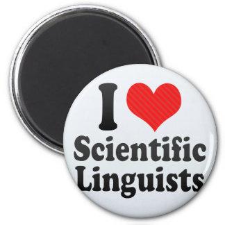 Amo a lingüistas científicos imán de frigorifico
