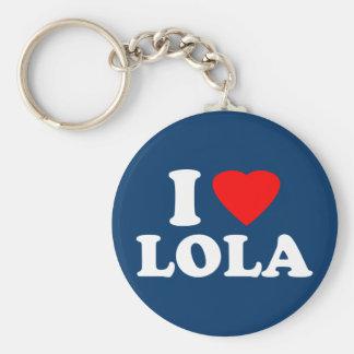Amo a Lola Llavero Redondo Tipo Pin