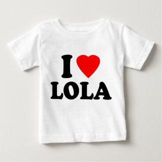 Amo a Lola Playera De Bebé