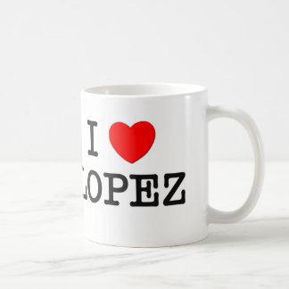 Amo a López Taza De Café