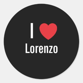 Amo a Lorenzo Pegatina Redonda