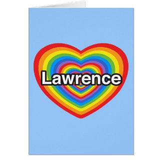 Amo a Lorenzo. Te amo Lorenzo. Corazón Tarjeta De Felicitación