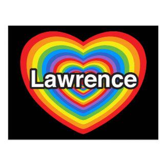 Amo a Lorenzo. Te amo Lorenzo. Corazón Tarjeta Postal
