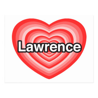 Amo a Lorenzo. Te amo Lorenzo. Corazón Tarjetas Postales