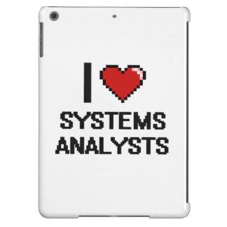 Amo a los analistas de sistemas funda para iPad air