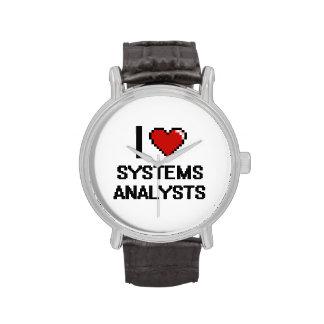 Amo a los analistas de sistemas relojes de pulsera