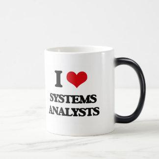 Amo a los analistas de sistemas tazas de café