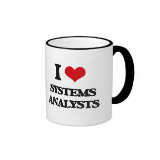 Amo a los analistas de sistemas tazas