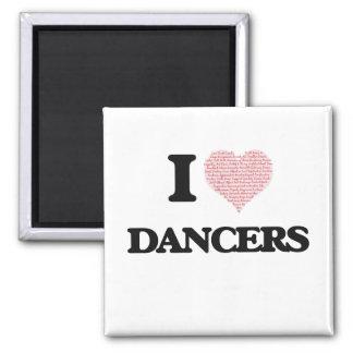 Amo a los bailarines (el corazón hecho de imán cuadrado