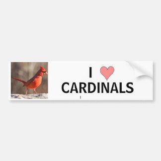 Amo a los cardenales - pegatina para el parachoque etiqueta de parachoque