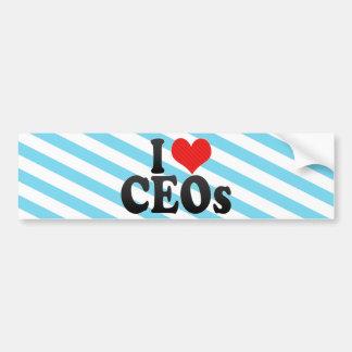 Amo a los CEOs Etiqueta De Parachoque