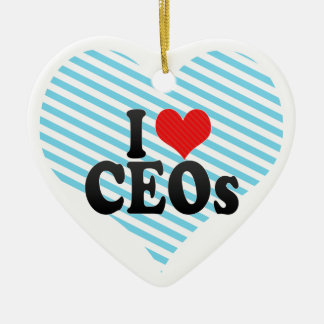 Amo a los CEOs Adorno De Cerámica En Forma De Corazón