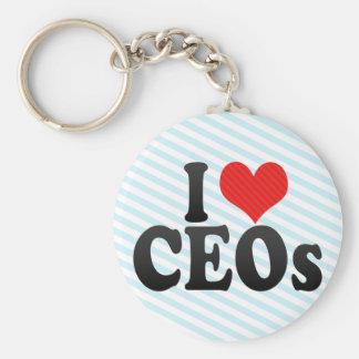 Amo a los CEOs Llaveros Personalizados