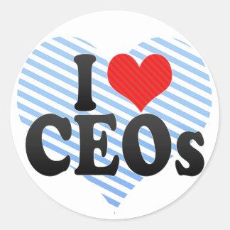 Amo a los CEOs Pegatina Redonda