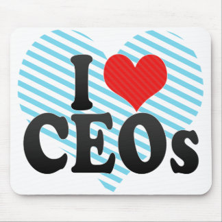 Amo a los CEOs Alfombrilla De Ratón