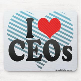Amo a los CEOs Tapetes De Raton