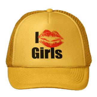 Amo a los chicas - beso, Smooch, amor, corazón Gorro De Camionero