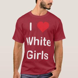 Amo a los chicas blancos playera