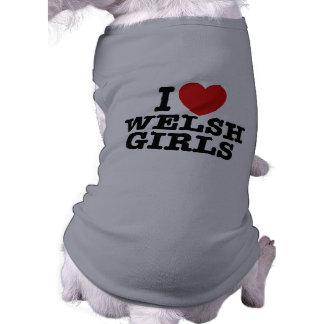 Amo a los chicas Galés Playera Sin Mangas Para Perro