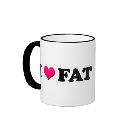 Amo a los chicas gordos - taza de café