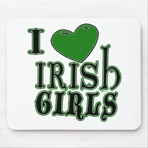 Amo a los chicas irlandeses Mousepad Tapetes De Ratones