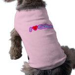 Amo a los chicas lindos de los niños del corazón d camisetas de mascota
