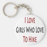Amo a los chicas que aman caminar llavero