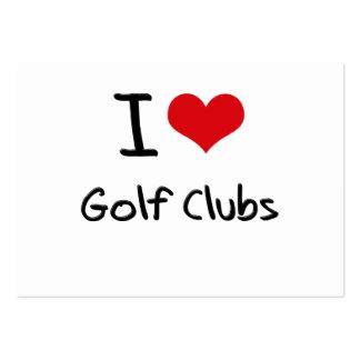 Amo a los clubs de golf tarjeta de visita