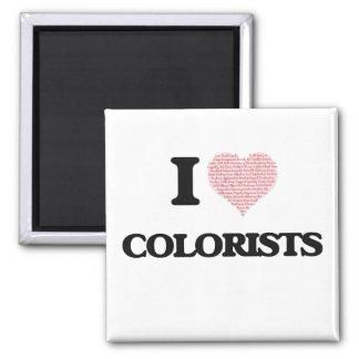 Amo a los Colorists (el corazón hecho de palabras) Imán Cuadrado