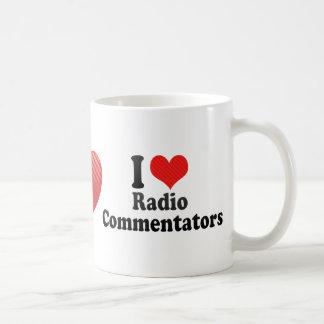Amo a los comentaristas de radio taza