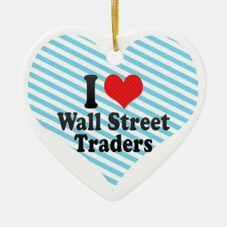 Amo a los comerciantes de Wall Street Adornos De Navidad