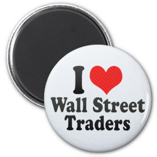 Amo a los comerciantes de Wall Street Imanes De Nevera
