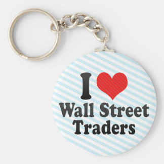 Amo a los comerciantes de Wall Street Llavero
