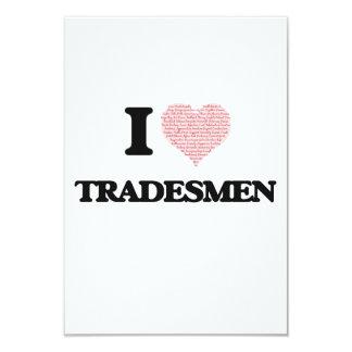 """Amo a los comerciantes (el corazón hecho de invitación 3.5"""" x 5"""""""