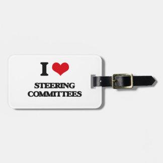 Amo a los comités de dirección etiqueta de equipaje