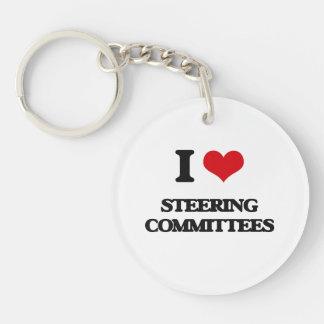 Amo a los comités de dirección llavero redondo acrílico a una cara