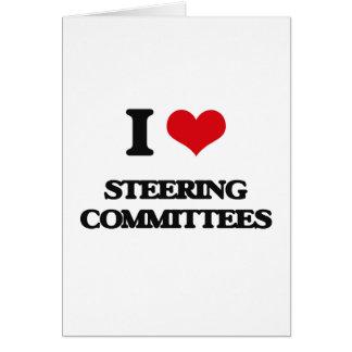 Amo a los comités de dirección tarjeta de felicitación