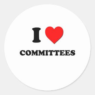 Amo a los comités etiqueta redonda