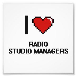 Amo a los encargados de radio del estudio fotografía